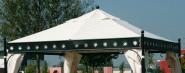 SIENA GARDEN Ersatzdach für Pavillon Korfu, original Ersatzteil, 3,5 x 3,5m, PU-beschichtet, wasserabweisend, Farbe natur