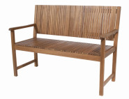 2 Stück SIENA GARDEN Gartenbank, Sitzbank Falun, 2er-Bank, aus FSC® 100% Akazienholz, geölt, ca. 59 cm x 122 cm x 90 cm