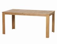 SIENA GARDEN Gartentisch aus Akazienholz, 160 x 90 x 75 cm, geöltes FSC-zertifiziertes Akazienholz, mit Stahlbeschlägen, wetterfest, naturfarben