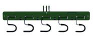 SIENA GARDEN Geräteleiste PVC 5 Haken grün 5 inkl. Befestigungsmaterial mit 5 verzinkten Haltern