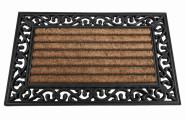 SIENA GARDEN Gummimatte Impalla eckig 45 x 75 cm mit Kokosfaser