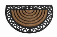 SIENA GARDEN Gummimatte Impalla halbrund 45 x 75 cm mit Kokosfaser in Gußeisenoptik
