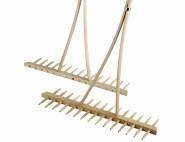 SIENA GARDEN Heurechen Holz 12 Zinken mit Holzstiel 2,8 x 180 cm