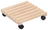 SIENA GARDEN Holz-Rolluntersetzer, eckig Buche, 5 x 2 Latten