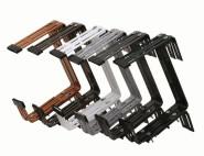 10 Stück SIENA GARDEN Kastenhalter montiert Gigant anthrazit 3-fach verstellbar