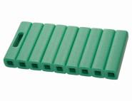SIENA GARDEN Röhrenkissen 41 x 20 x 4,5 cm expandiertes Polyethylen, grün