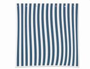 SIENA GARDEN 2 Seitenteile für Faltpavillon blau/weiß, 1 x mit Fenster und 1 x ohne Fenster, aus Polyester in blau/weiß