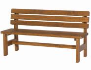 SIENA GARDEN Tessin Bank 150 cm massiv Holz braun