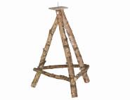 SIENA HOME Birkenholzständer XL 100 cm Höhe für Vogelhäuser mit einer Grundplatte von 6 - 8 cm