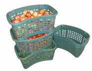 SIENA HOME Drehstapelbehälter 35 Liter, grün