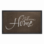 SIENA HOME Fußmatte Peva Welcome Home, 45 x 75 cm, taupe