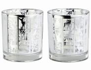 SIENA HOME Glaswindlicht, Kerzenhalter, 10,2 x 9cm mit Herbstmotiven, 1 Stück, sortiert