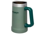 Stanley ADVENTURE VACUUM STEIN, 709 ml, 18/8 Edelstahl Vakuumisolierung, grüne Hammerschlaglackierung, Griff