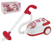 Staubsauger mit Saugfunktion, Licht & Sound, aus Kunststoff, 19 x 14 x 11 cm, in rot/weiß, inkl. Kugeln zum Aufsaugen, batteriebetrieben
