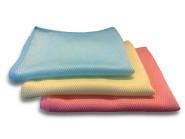 Steuber 3er Pack Microfasertuch BEKKO mit Schuppenstruktur, extra saugstark, 30% Polyamide, 60x40cm, rot/gelb/blau