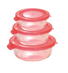 Steuber 3er Set Glas-Frischhaltedosen, rund, 3 Größen