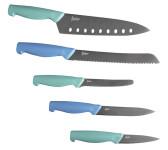 Steuber 5-tlg. Küchenmesser Set bestehend aus 5 scharfen Kochmesser, Titanium-beschichtet, ergonomischer Griff
