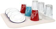 Steuber Abtropfmatte für Geschirr, Mikrofaser, 40 x 45 cm, beige