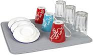 Steuber Abtropfmatte für Geschirr, Mikrofaser, 40 x 45 cm, grau