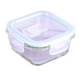 Steuber Cloc Frischhaltedose aus Glas, 320 ml, quadratisch, Glas bis 400°C