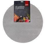 Steuber Grillmatte/Backpapierersatz, rund, Ø 52 cm, antihaftbeschichtet und zuschneidbar, schwarz