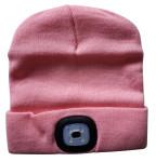 Steuber LED Mütze für Erwachsene, rosa, helle LED, 4 Lichtstärken wählbar, mit USB aufladbar, waschbar