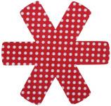 Steuber 3er Set Pfannenschutz 38 x 38 cm, Stapelhilfe und Kratzschutz für Pfannen, rot