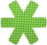 6 Stück Steuber (2 x 3er Set) Pfannenschutz 38 x 38 cm, Stapelhilfe und Kratzschutz für Pfannen, grün
