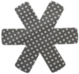 6 Stück Steuber (2 x 3er Set) Pfannenschutz 38 x 38 cm, Stapelhilfe und Kratzschutz für Pfannen, grau