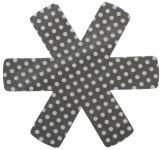 9 Stück Steuber (3 x 3er Set) Pfannenschutz 38 x 38 cm, Stapelhilfe und Kratzschutz für Pfannen, grau