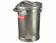 SULO Mülleimer, Abfalleimer, Mülltonne, verzinkt, 35 l, aus Metall