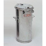SULO Mülltonne, Mülleimer, Systemmülleimer, verzinkt, 50 l, verzinkt, ohne Bügel