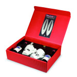 Take2 Feuerteufel Geschenkbox, Geschenk-Set für Feuerzangenbowle, inkl. 2 Feuerteufel, 2 Tassen uvm.
