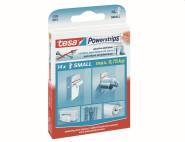 TESA Powerstrips-Mini 14 Stück, doppelseitig, spurloses entfernen, bis 1 kg belastbar