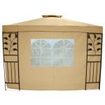 TESTRUT - Seitenwand Livorno mit Fenster 160g 2er Set beige