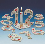 TIB Heyne Holz-Geburtstagszahl, Zahl 4, 1 Stück