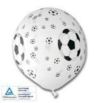 """TIB Heyne Luftballons """"Fußball"""" weiß mit schwarzem Druck,5 Stück Umfang: 96 cm, Ø 30 cm"""