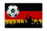 Tinas Collection moderne Wanduhr mit dem Motiv Deutschland Fahne