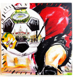 Tinas Collection Wanduhr mit dem Motiv Fußball, 30 x 30 cm