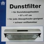 TOP STAR - Dunstfilter für Dunstabzugshauben 57x47 cm