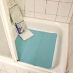 TOP STAR - Duschmatte Gummi 55 x 55 cm farbig sortiert weiss und blau