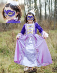 Trullala Musketier-Kleid mit Maske, Kinderfaschingskleid Größe: M