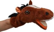 Trullala Pferd Plüsch-Handpuppe mit Klapper, 35 cm