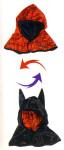 Trullala Spider/Batman Kapuze, Kostümkapuze, in rot-schwarz
