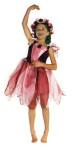 Trullala Waldfeenkleid, Elfenkostüm, Feenverkleidung, Größe: S in weinrot (3-4 Jahre)