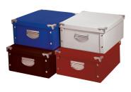 Universal-Aufbewahrungsbox gefaltet, formstabiler Karton, farbig sortiert, 1 Stück