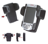 Universal PDA-Halter Maxi PDA Gripper 2 lange Backen oben, mit Lamellensockel, selbstklebend schwarz