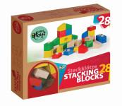 VARIS toys Bauklötze bunt 28 Teile Holz Holzbausteine aus Birkenholz FSC®