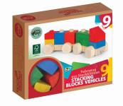 VARIS toys bunter Holzzug Holzeisenbahn 9 Teile Bauklötze Holzbausteine aus Birkenholz FSC®