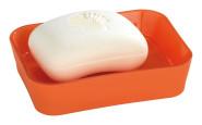 Wenko Seifenablage Rainbow Orange - hochwertiger, schwerer Soft Touch, Kunststoff, 12 x 3 x 9 cm, orange